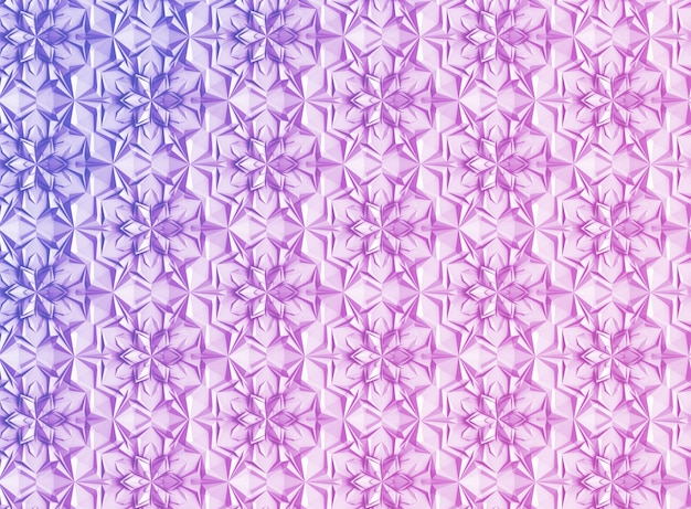Three-dimensional light geometry background with six-pointed flowers Premium Photo
