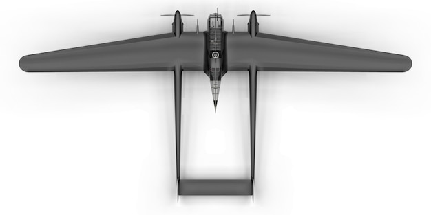 Three-dimensional model of the bomber aircraft of the second world war Premium Photo