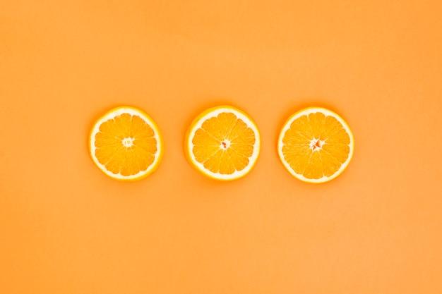 Three orange slices Free Photo