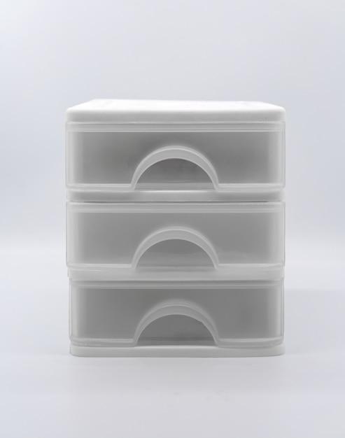 Three storey box isolated on white background Premium Photo