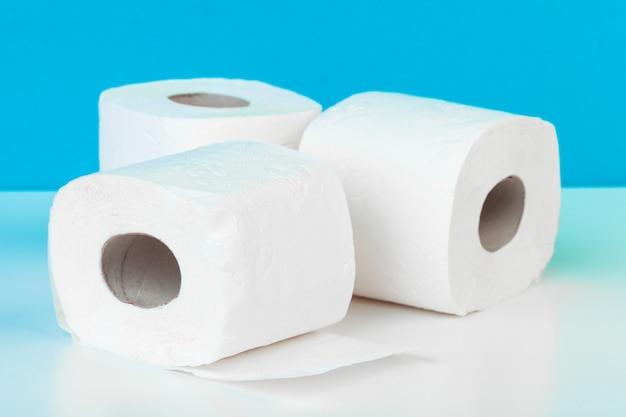 Three toilet paper rolls Premium Photo
