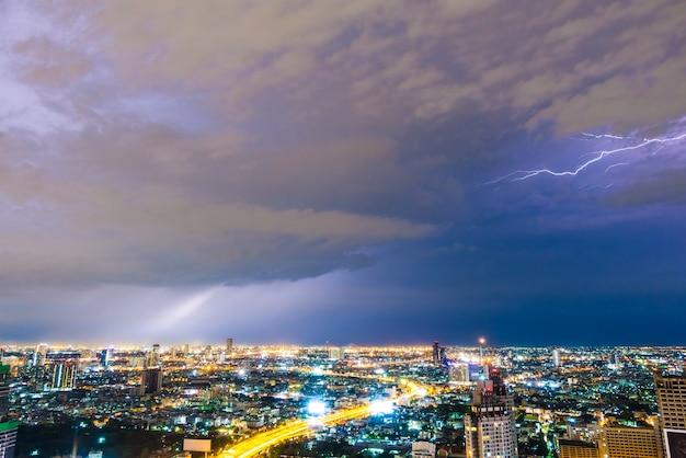 Thunderstorm lightning Free Photo