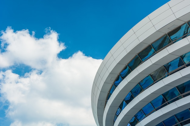 Tianjin, china, modern city business office area, building part and plaza platform. Premium Photo