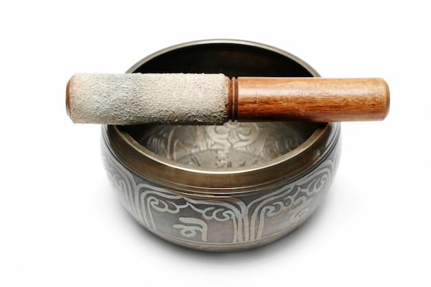 Тибетская поющая чаша Premium Фотографии