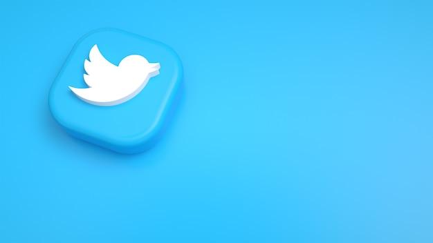 Tiktokの最小限のロゴとtiktokのきれいな背景 Premium写真