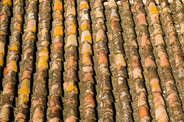 Tile roof texture Free Photo