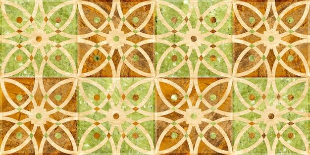 Плитка из натурального камня, мрамора и гранита. цветная мозаика фоновой текстуры Premium Фотографии