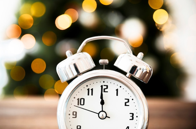 Time on clock approaching new year Free Photo