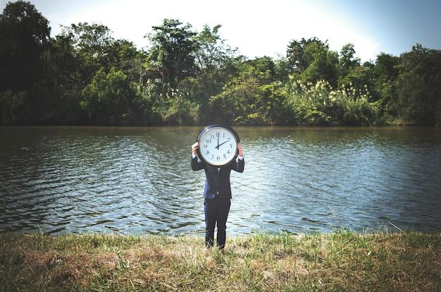 Time urgent alarm clock chance punctual concept Premium Photo