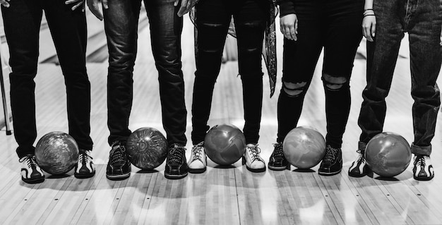 Time with friends at a bowling alley Free Photo
