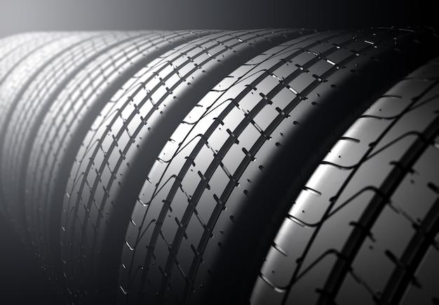 Tire stack Premium Photo