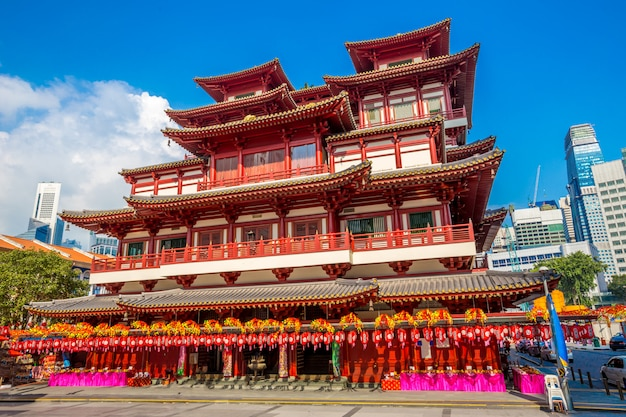 シンガポールのチャイナタウンにある仏to寺 Premium写真
