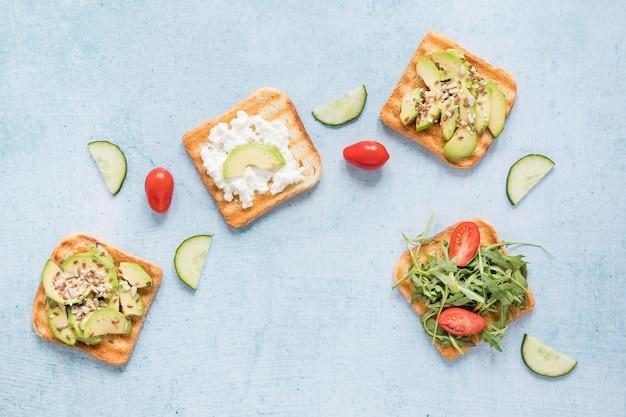 Toast con verdure Foto Gratuite