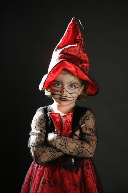 Toddler girl , halloween costume Premium Photo