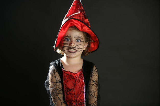 Toddler girl , halloween costume Premium Photo