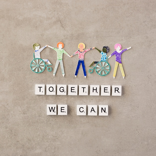 Together we can help concept Premium Photo