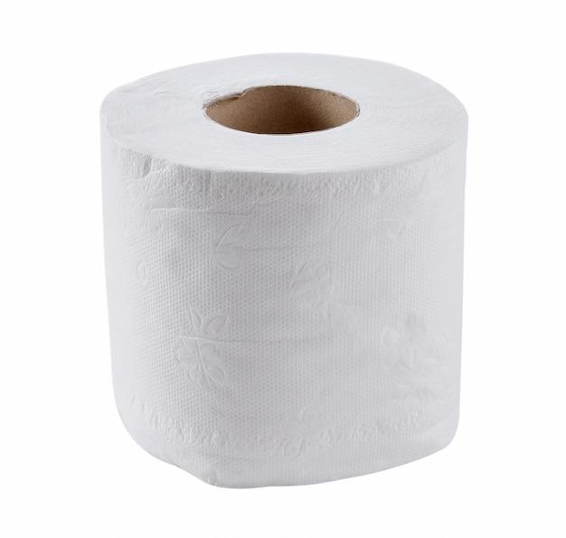 Toilet paper isolated on a white Premium Photo