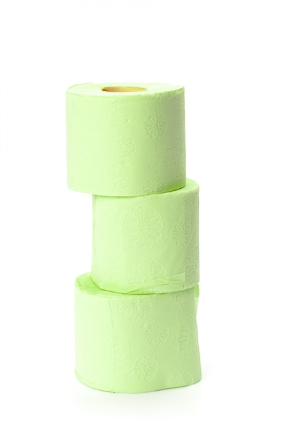 Toilet paper isolated on white Premium Photo
