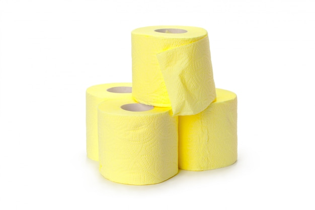 Toilet paper isolated on white Premium Photo