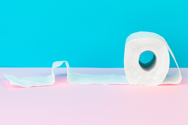 Toilet paper in table. cleaning concept product Premium Photo