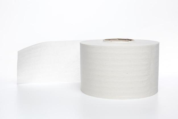 Toilet paper on white Premium Photo
