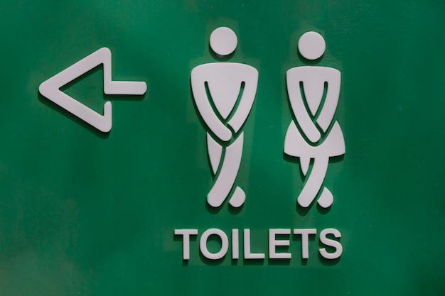 Toilet sign in park Premium Photo