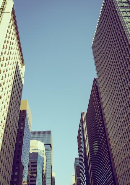 도쿄, 일본 도시 (필터링 된 이미지 처리 빈티지 효과 무료 사진