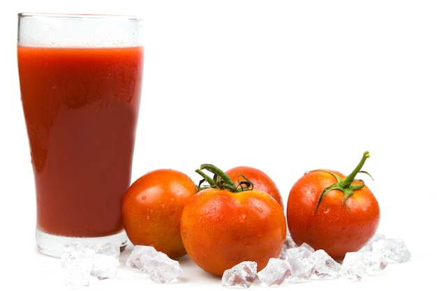 Tomato juice healthy Premium Photo