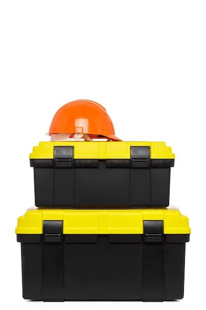 Toolkit box isolated on the white background Premium Photo