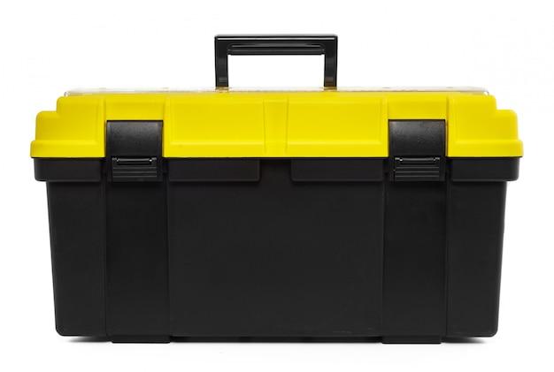 Toolkit box isolated on the white Premium Photo