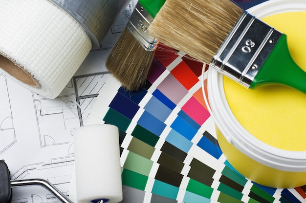 Tools and accessories for home renovation Premium Photo