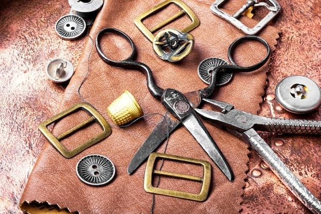 Tools for leather craft Premium Photo