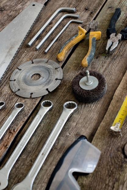 木製のテーブルのツール 無料写真