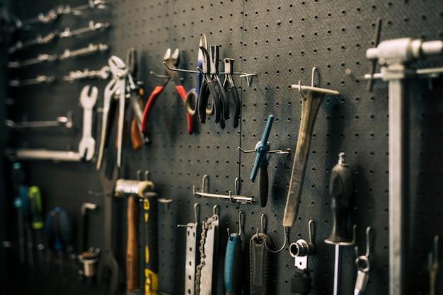 Tools of a repairing shop Free Photo