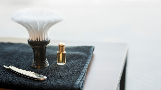 Tools for shaving beard on desk Free Photo