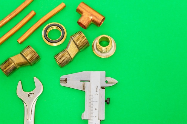 Tools and spare parts for plumbing Premium Photo