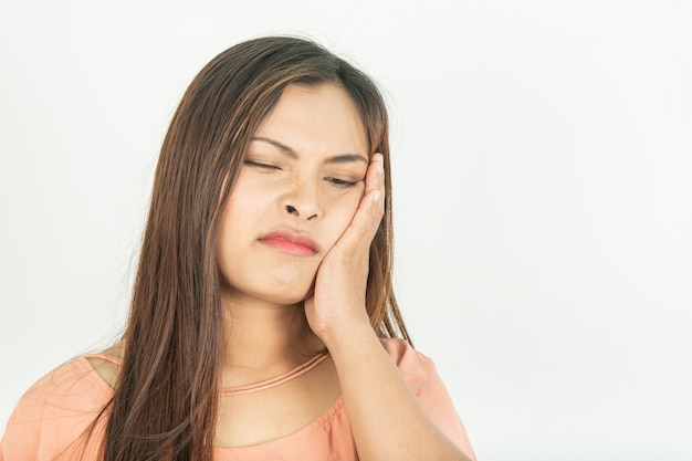 Toothache and root canal problems swollen gums and pain Premium Photo