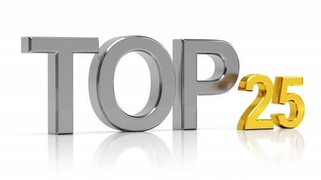 Топ-25. лучшие двадцать пять списка. Premium Фотографии
