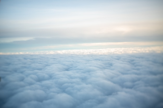 The top of the cloud looks soft and tender. Premium Photo