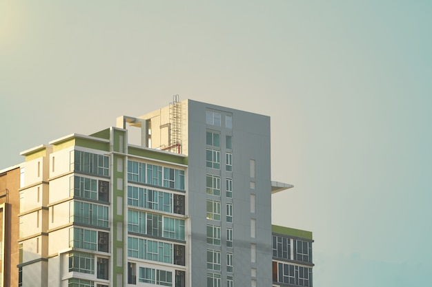 Top of condo or tower on sky background Premium Photo