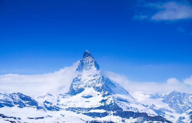 Top of the matterhorn in zermatt, switzerland Premium Photo