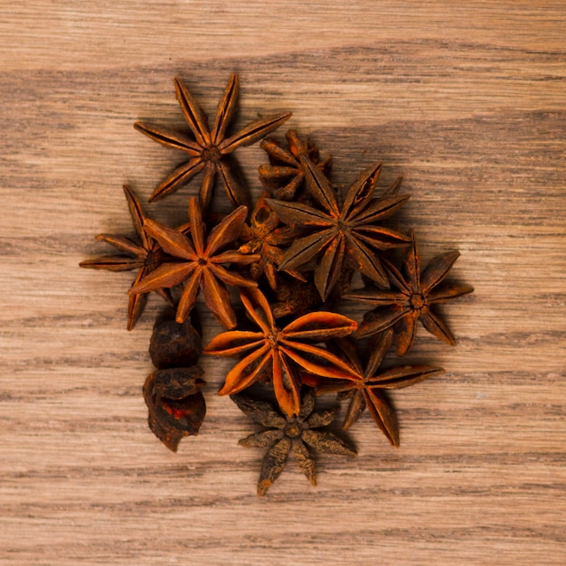 Top view anise grains Free Photo