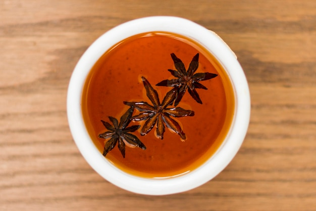 Top view anise teacup Free Photo