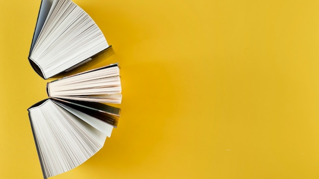 Top view arch made of open books Free Photo