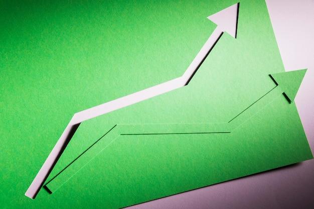 Вид сверху arrow опережающий рост экономики Бесплатные Фотографии