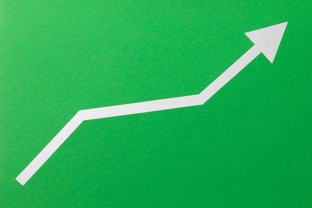 Вид сверху стрелка зарождающаяся экономика Бесплатные Фотографии