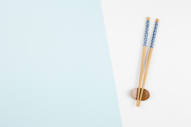Top view of asian chopsticks Premium Photo