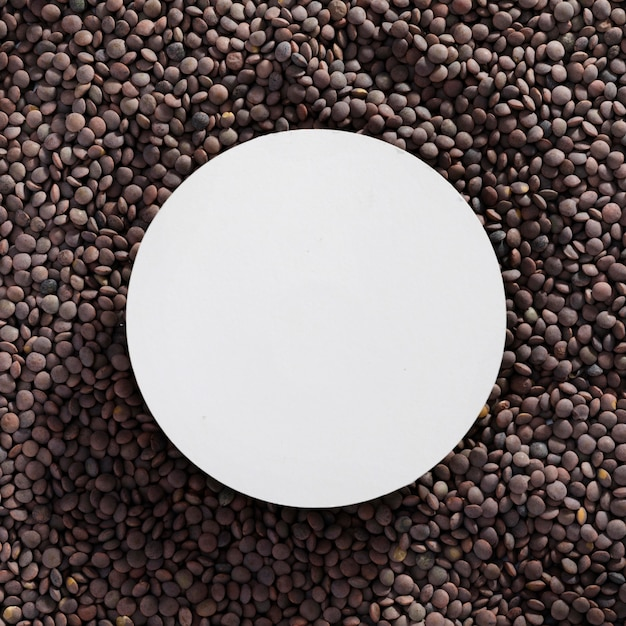 Top view assortment of lentils with frame Free Photo