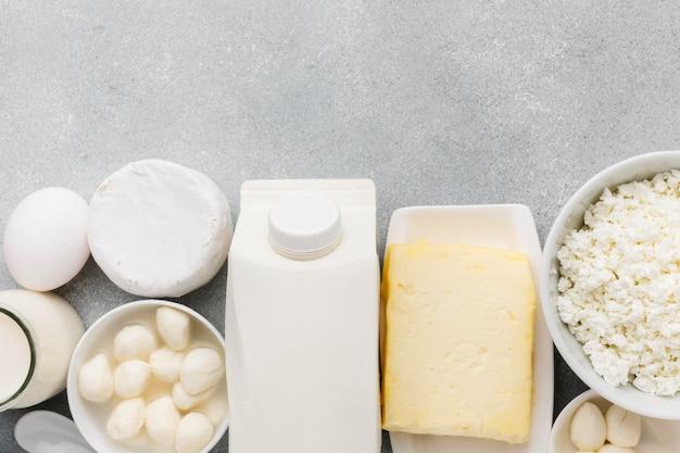 トップビューのフレッシュチーズとmikの品揃え 無料写真