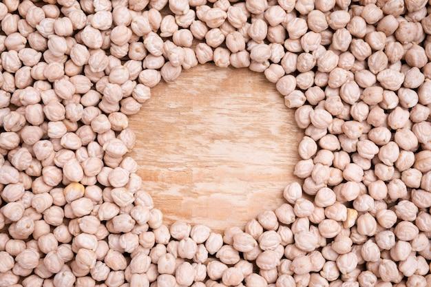 Top view assortment of organic chickpeas Premium Photo